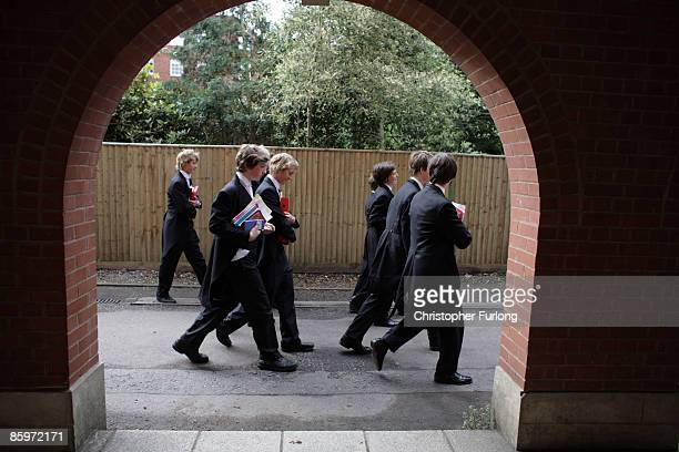 Boys make their way to classes at Eton College on July 20 in Eton England An icon amongst private schools since its founding in 1440 by King Henry VI...