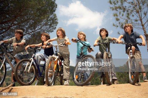 boys on bicyles