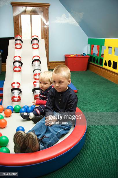 Boys playing at daycare