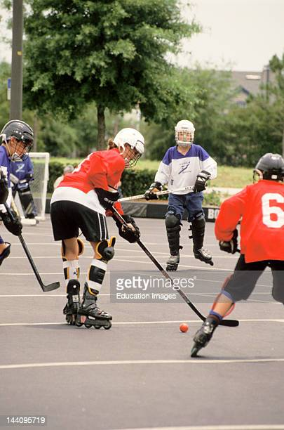 street hockey kids stock photos and pictures getty images
