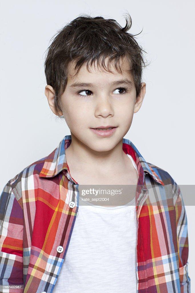 portrait de garçon : Photo
