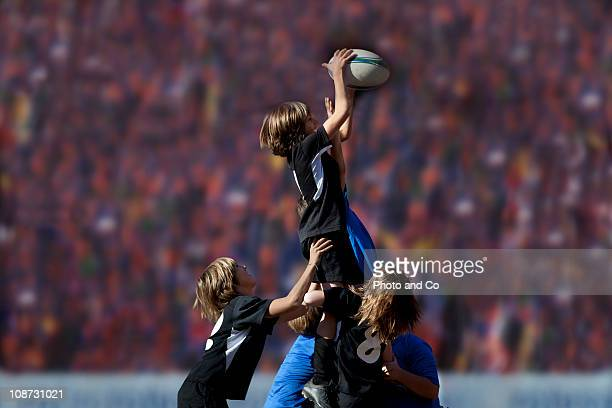 Boys rugby Players in a Lineout
