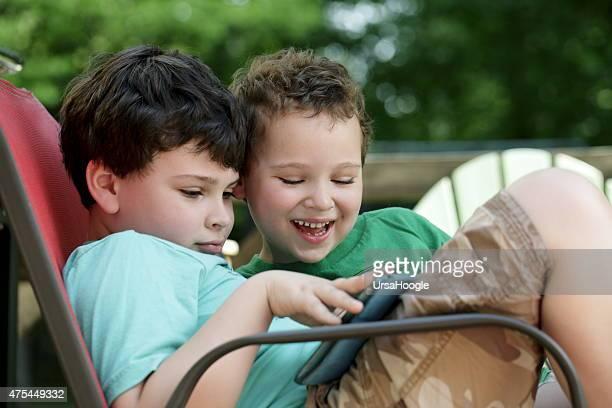Jungen mit Autismus connect