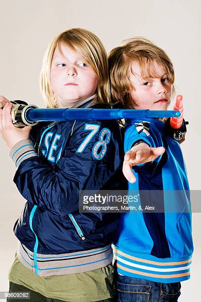 Boys with laser swords.
