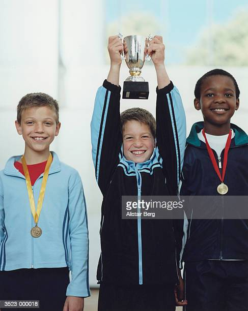 Boys with Trophy and Medals