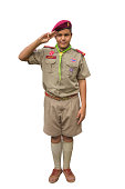 Thai boyscout isolated on white background