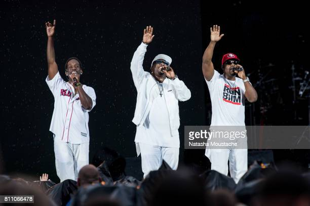 Boyz II Men perform on stage at Fenway Park on July 8 2017 in Boston City