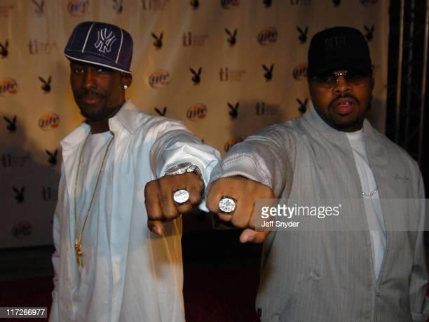 Boyz II Men showing their SF 49'ers Super Bowl Rings