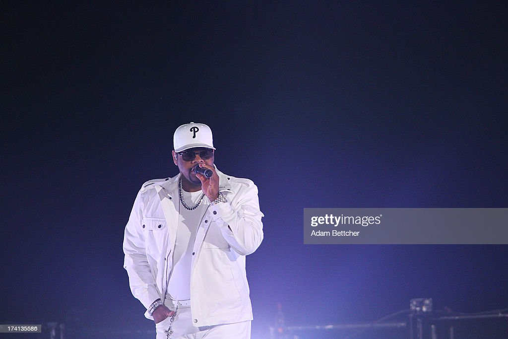 Boyz II Men singer Nathan Morris performs during 'The Package Tour' concert at Target Center on July 20, 2013 in Minneapolis, Minnesota.