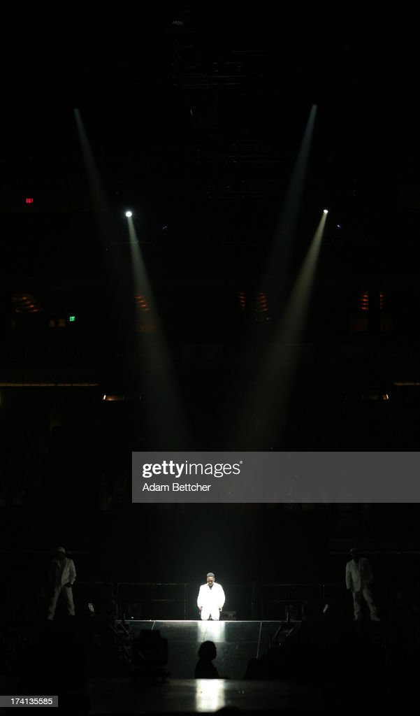 Boyz II Men singer Shawn Stockman performs during 'The Package Tour' concert at Target Center on July 20, 2013 in Minneapolis, Minnesota.