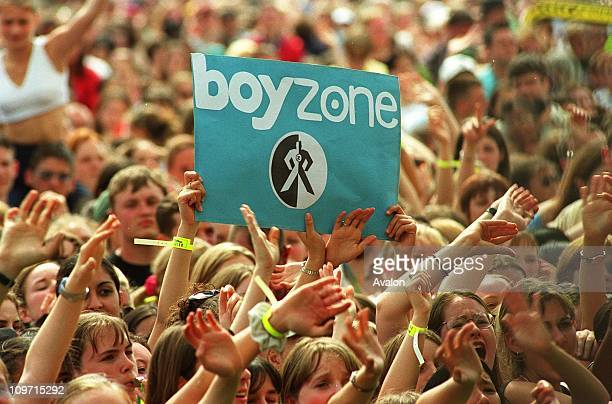'boyzone' Fans In the crowd at the Capital Radio/Prince's Trust 'Party in the Park' concert at Hyde Park London