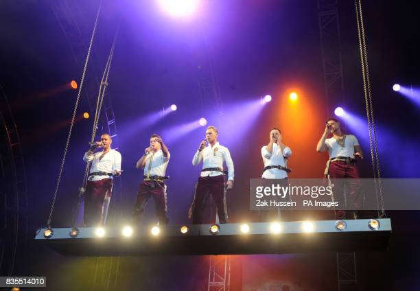 Boyzone perform in concert at Wembley Arena north London
