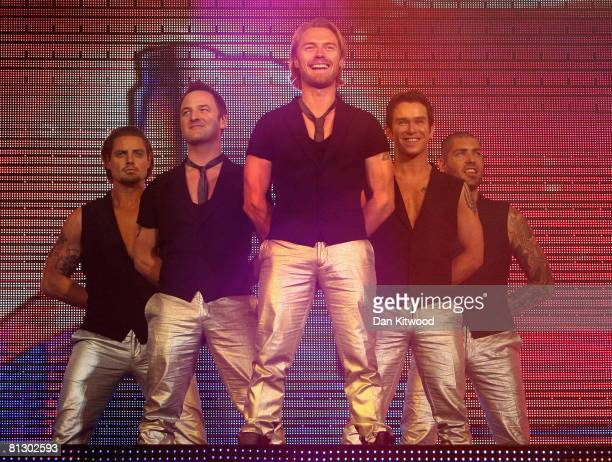 Boyzone perform on stage at the 02 Arena on May 30 2008 in London England