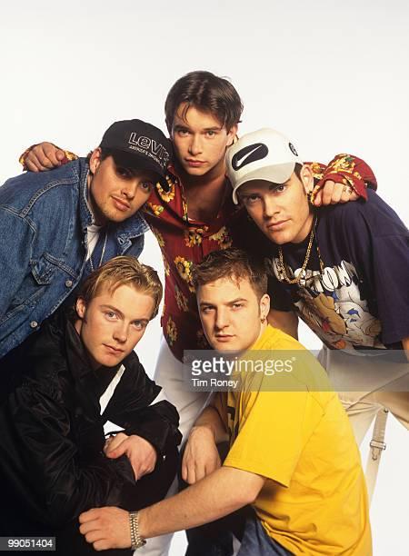 Boyzone Keith Duffy Ronan Keating Stephen Gately Mikey Graham and Shane Lynch pop group circa 1996