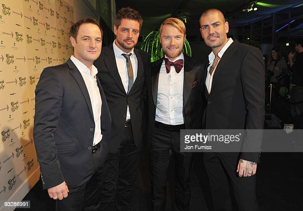 Boyzone with Mikey Graham Keith Duffy Ronan Keating and Shane Lynch attend Ronan Keating's fourth annual Emeralds and Ivy Ball in aid of Cancer...