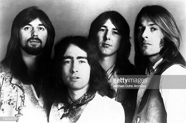 Boz Burrell Paul Rodgers Mick Ralphs and Simon Kirke of the rock band 'Bad Company' pose for a portrait in circa 1973