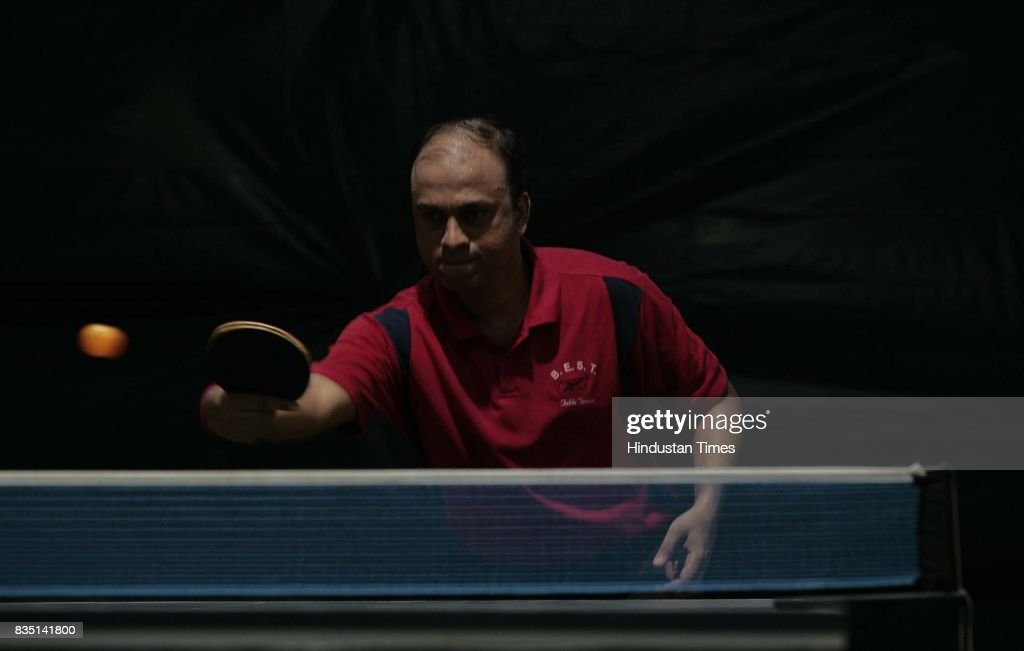 B.P.Bhushute and S.Khopkar play inner club & inner office Table Tennis competition at Santacurz Gymkhana on Friday.