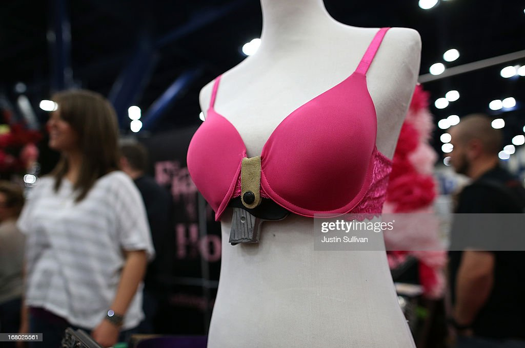 A bra with a built in concealed fireram holster made by Flashbang Holsters is displayed during the 2013 NRA Annual Meeting and Exhibits at the George R. Brown Convention Center on May 4, 2013 in Houston, Texas. More than 70,000 peope are expected to attend the NRA's 3-day annual meeting that features nearly 550 exhibitors, gun trade show and a political rally. The Show runs from May 3-5.