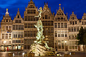 Brabo Fountain, Main Square Grote Market, Belgium