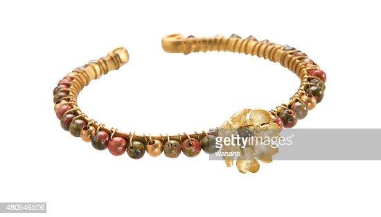 Bracelet on white background : Stock Photo