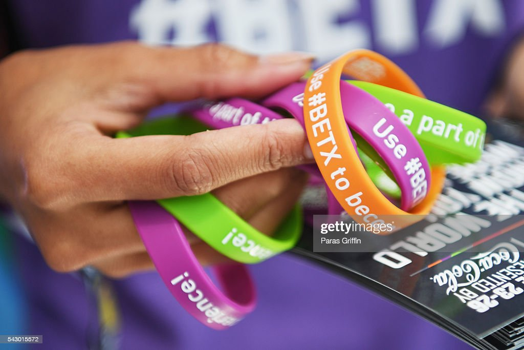 Bracelets are seen at FAN FEST during the 2016 BET Experience on June 25, 2016 in Los Angeles, California.
