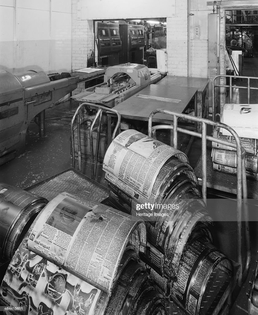 Bracken House Cannon Street London 1987 Bracken House was formerly the main office of the Financial Times The plate casting room is shown here The...