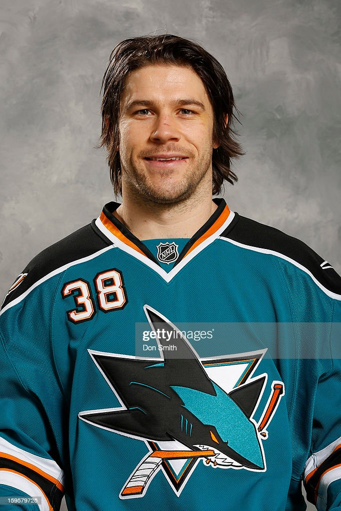 Bracken Kearns #38 of the San Jose Sharks poses for his official headshot for the 2012-13 season on January 13, 2013 at Sharks Ice in San Jose, California.