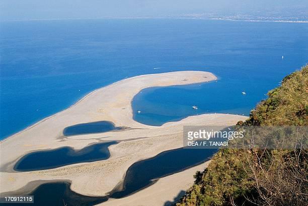 Brackish lakes at Tindari Oriented Natural Reserve Marinello Lakes Messina Sicily Italy