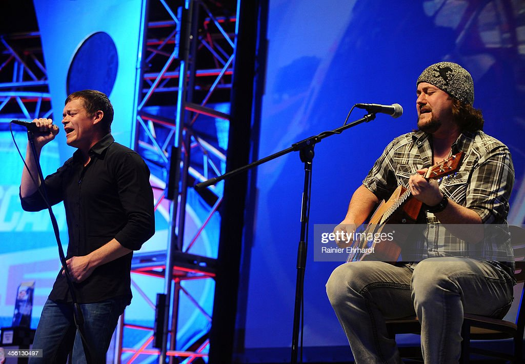 Brad Arnold and Chet Roberts perform during the NASCAR All-American Series Awards at Charlotte Convention Center on December 13, 2013 in Charlotte, North Carolina.