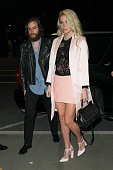 Brad Ashenfelter and Kesha seen at LAX on January 20 2015 in Los Angeles California