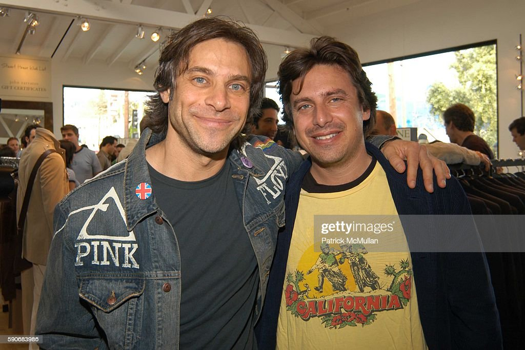 Brad Beckerman and Adam Berhardt attend John Varvatos' 3rd Annual Stuart House Charity Benefit at John Varvatos Boutique on March 5 2005 in West...