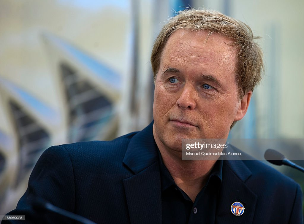 <a gi-track='captionPersonalityLinkClicked' href=/galleries/search?phrase=Brad+Bird&family=editorial&specificpeople=206750 ng-click='$event.stopPropagation()'>Brad Bird</a> attends at the 'Tomorrowland' Press Conference at the L'Hemisferic on May 19, 2015 in Valencia, Spain.