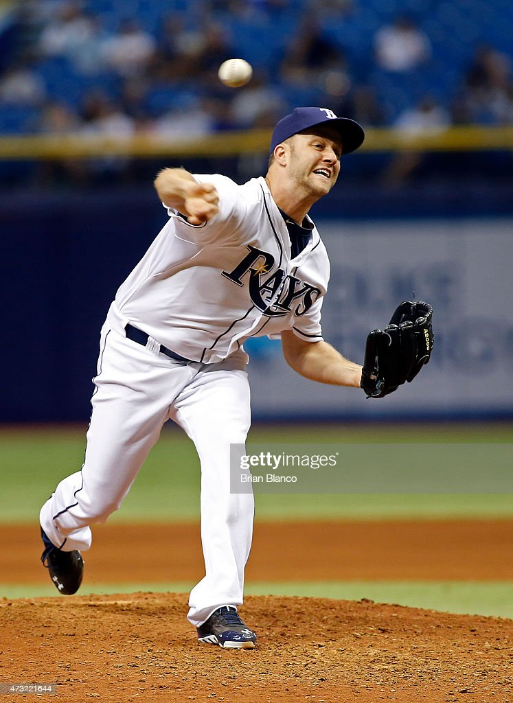 Brad Boxberger #26 of the Tampa Bay Rays pitches during the ninth inning of a game against the New York Yankees on May 13, 2015 at Tropicana Field in St. Petersburg, Florida.