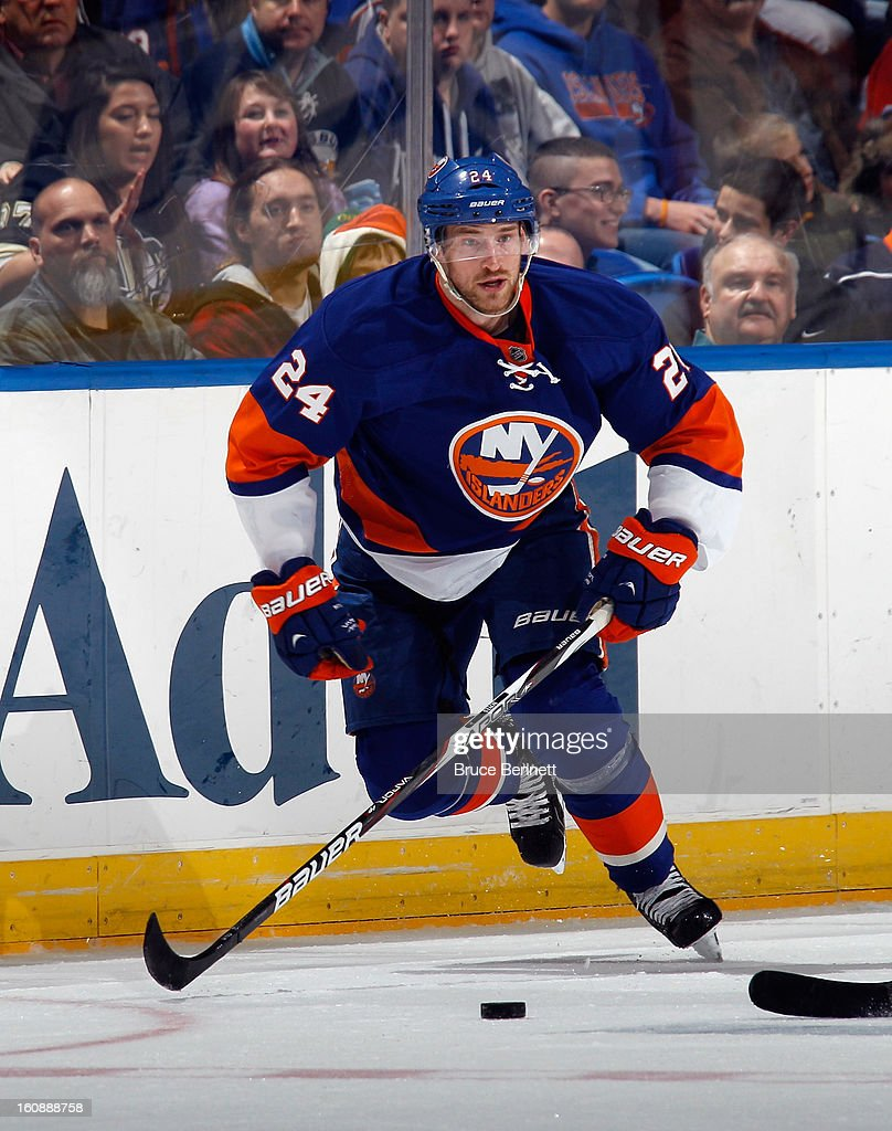 <a gi-track='captionPersonalityLinkClicked' href=/galleries/search?phrase=Brad+Boyes&family=editorial&specificpeople=275014 ng-click='$event.stopPropagation()'>Brad Boyes</a> #24 of the New York Islanders skates against the Pittsburgh Penguins at the Nassau Veterans Memorial Coliseum on February 5, 2013 in Uniondale, New York.