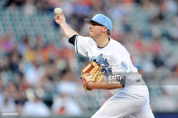 Brad Brach of the Baltimore Orioles pitches against the St Louis Cardinals at Oriole Park at Camden Yards on June 17 2017 in Baltimore Maryland