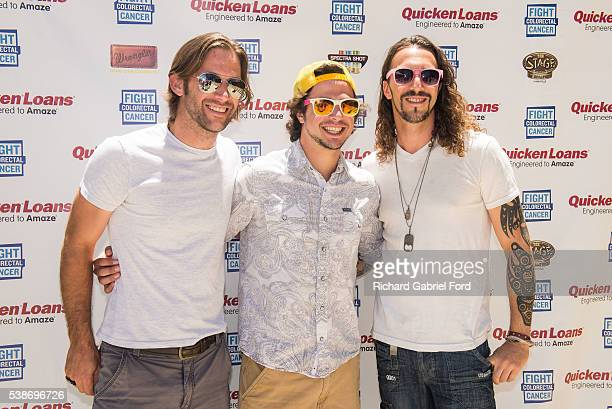Brad Cummings Ian Munsick and Jeff Coplan of the band Blackjack Billy attend the Craig Campbell celebrity cornhole challange on June 7 2016 in...