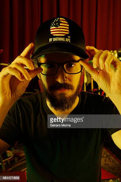 Brad Delson of musical group Linkin Park is photographed for Los Angeles Times on May 15 2014 in North Hollywood California