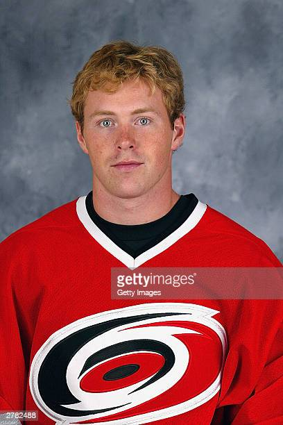 Brad Fast of the Carolina Hurricanes poses for a portrait on September 15 2003 at RBC Center in Raleigh North Carolina