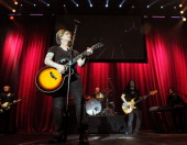 Brad Fernquist John Rzeznik Mike Malinin Robby Takac and Korel Tunador of Goo Goo Dolls perform during the 2013 Star 94 Jingle Jam at Arena at...