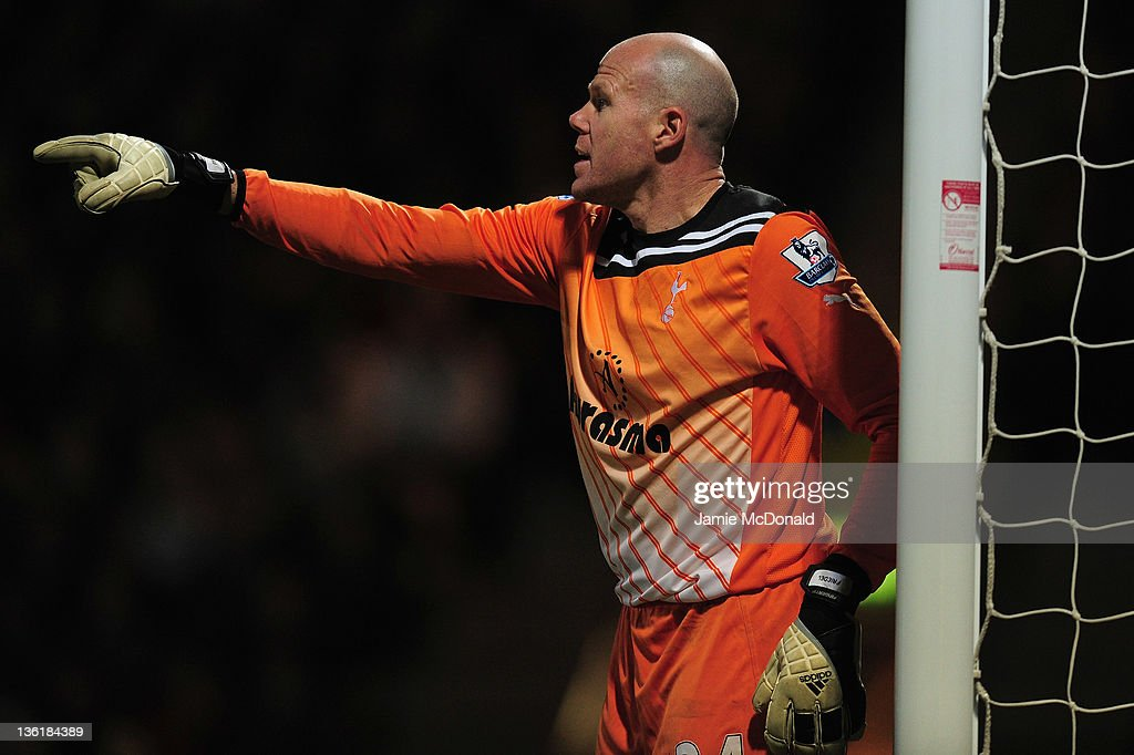 Brad Friedel of Spurs in action during the Barclays Premier Leauge match between Norwich City and Tottenham Hotspur at Carrow Road on December 27, 2011 in Norwich, England.
