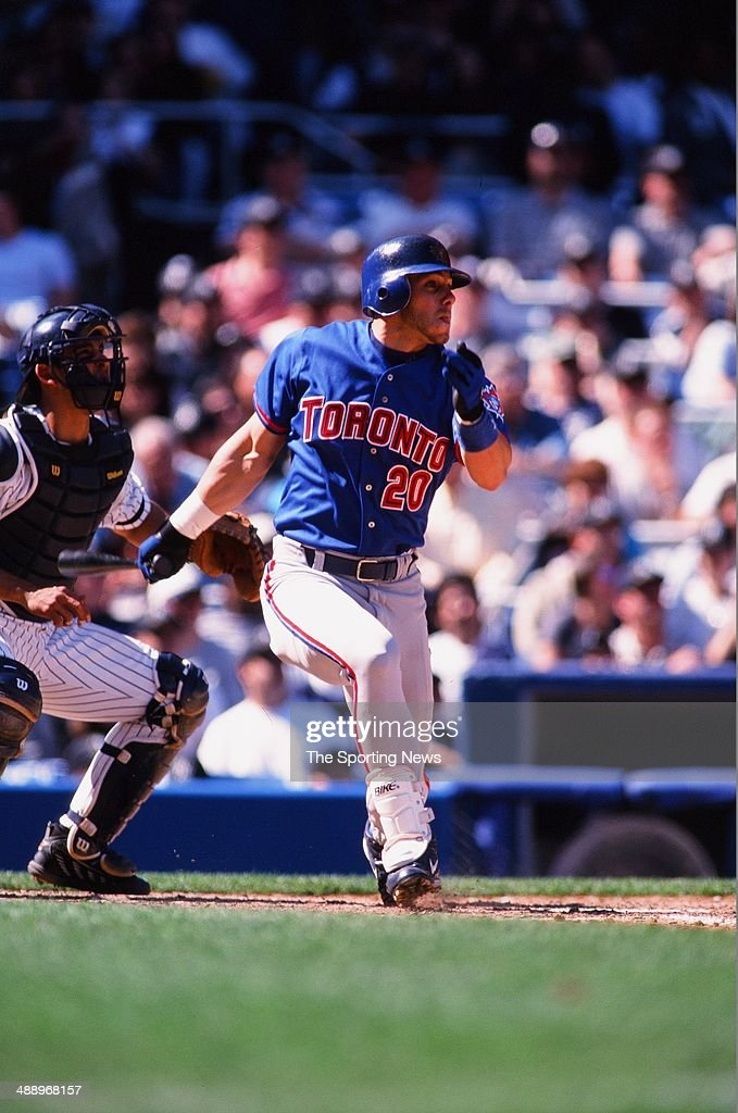 <a gi-track='captionPersonalityLinkClicked' href=/galleries/search?phrase=Brad+Fullmer&family=editorial&specificpeople=220658 ng-click='$event.stopPropagation()'>Brad Fullmer</a> of the Toronto Blue Jays bats against the New York Yankees at Yankee Stadium on April 30, 2000 in the Bronx borough of New York City. The Yankees defeated the Blue Jays 7-1.