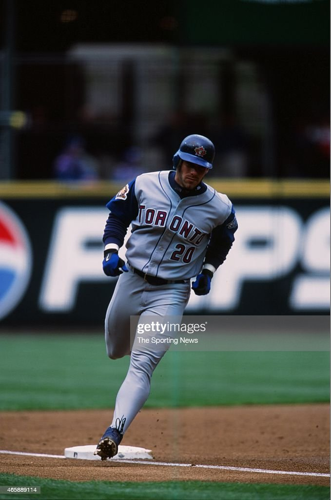 <a gi-track='captionPersonalityLinkClicked' href=/galleries/search?phrase=Brad+Fullmer&family=editorial&specificpeople=220658 ng-click='$event.stopPropagation()'>Brad Fullmer</a> of the Toronto Blue Jays runs against the Seattle Mariners at Safeco Field on May 5, 2001 in Seattle, Washington.