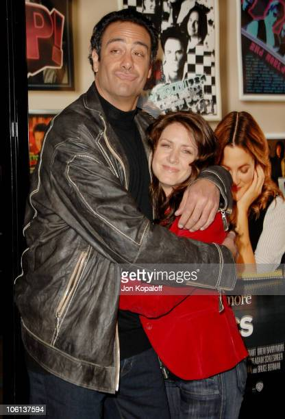 Brad Garrett and Joely Fisher during 'Music and Lyrics' Los Angeles Premiere Arrivals at Grauman's Chinese Theatre in Hollywood California United...