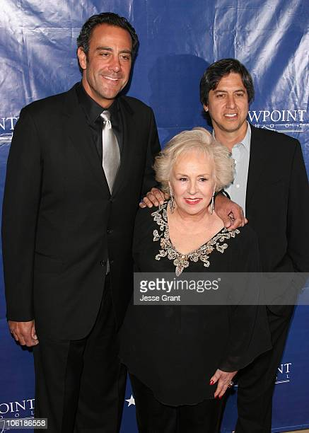 Brad Garrett Doris Roberts and Ray Romano during Viewpoint School Fundraiser Arrivals at The Beverly Hilton Hotel in Beverly Hills California United...