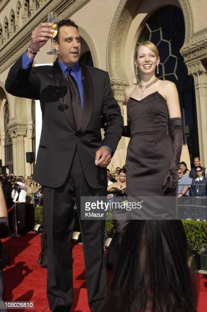 Brad Garrett gives a champagne toast to start the 8th Annual SAG Awards