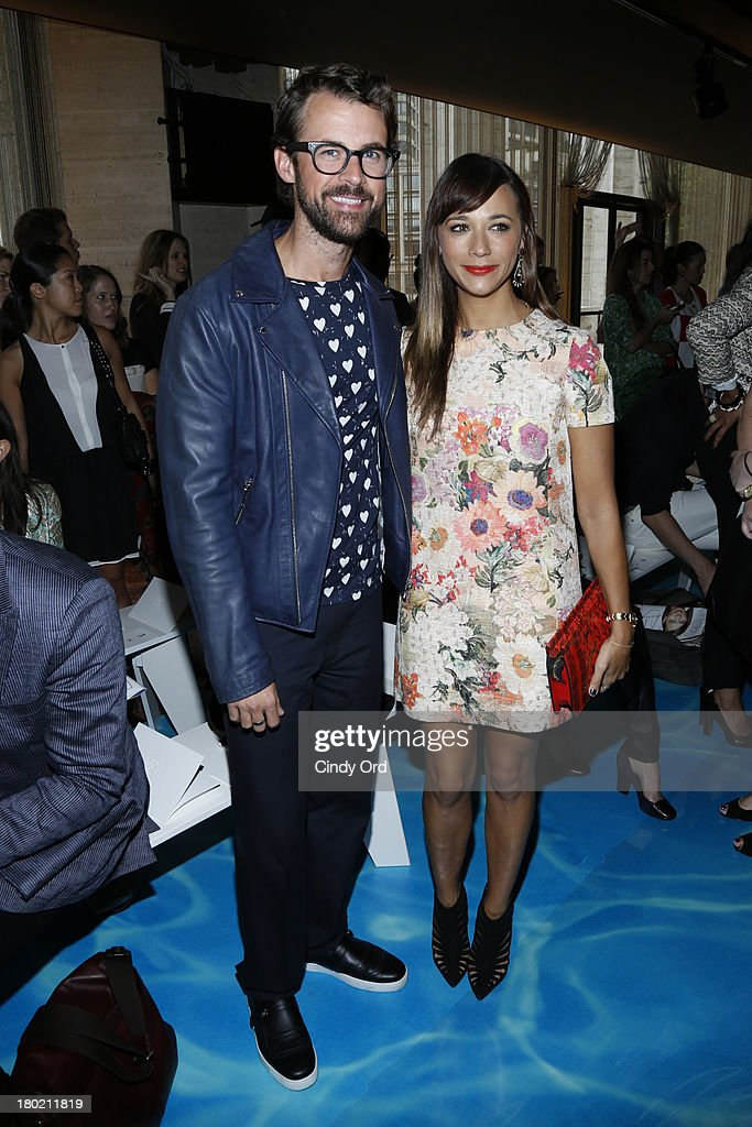 Brad Goerski (L) and <a gi-track='captionPersonalityLinkClicked' href=/galleries/search?phrase=Rashida+Jones&family=editorial&specificpeople=2133481 ng-click='$event.stopPropagation()'>Rashida Jones</a> attend the Tory Burch fashion show during Mercedes-Benz Fashion Week Spring at David H. Koch Theater at Lincoln Center on September 10, 2013 in New York City.