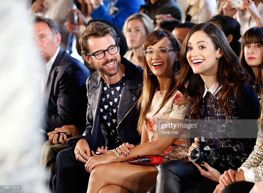 Brad Goerski, <a gi-track='captionPersonalityLinkClicked' href=/galleries/search?phrase=Rashida+Jones&family=editorial&specificpeople=2133481 ng-click='$event.stopPropagation()'>Rashida Jones</a> and <a gi-track='captionPersonalityLinkClicked' href=/galleries/search?phrase=Emmy+Rossum&family=editorial&specificpeople=202563 ng-click='$event.stopPropagation()'>Emmy Rossum</a> attend the Tory Burch fashion show during Mercedes-Benz Fashion Week Spring at David H. Koch Theater at Lincoln Center on September 10, 2013 in New York City.