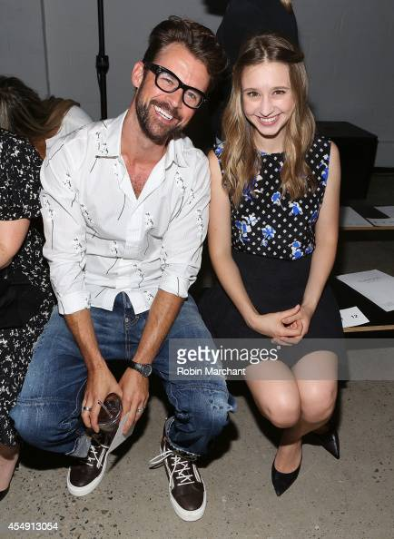 Brad Goreski and Actress Taissa Farmiga attend Thakoon during MercedesBenz Fashion Week Spring 2015 at on September 7 2014 in New York City