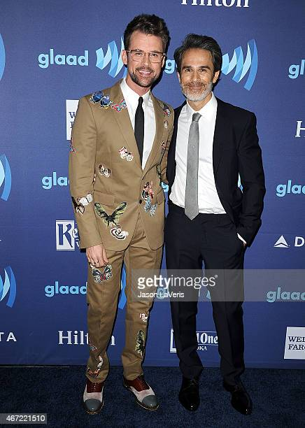 Brad Goreski and Gary Janetti attend the 26th annual GLAAD Media Awards at The Beverly Hilton Hotel on March 21 2015 in Beverly Hills California