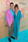 Brad Goreski and Lisa Rinna attend 'QVC Presents Super Saturday LIVE' on the Red Carpet at Barker Hangar on June 11 2016 in Santa Monica California